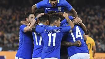 Brasiliens Nationalteam freut sich über einen 4:0-Erfolg in Australien
