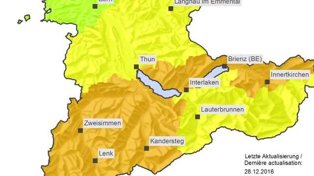 Brandgefahr auch im Berner Oberland