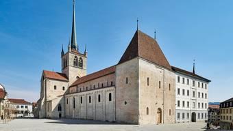 Die Abtei von Payerne (VD) ist die grösste romanische Kirche der Schweiz.
