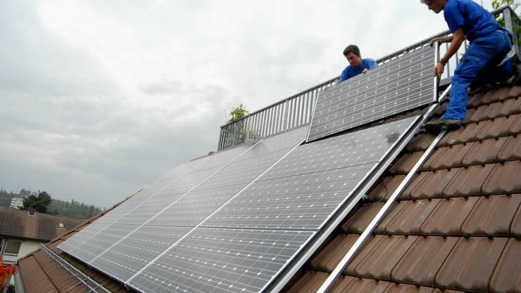 Solarenergie: Die Baselbeiter Grünen wollen mehr Energie aus erneuerbaren Quellen (Foto: Walter Schwager)