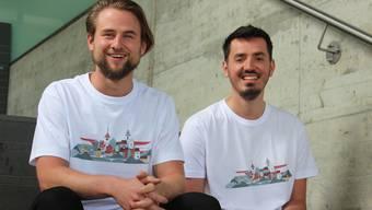 Nicolas Giger (l.) und Arber Marniku haben gemeinsam die Firma Galadesign gegründet.