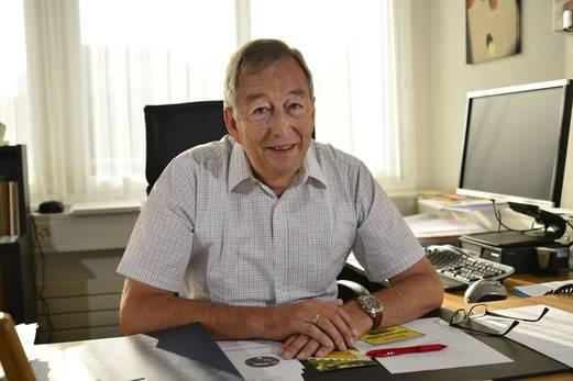 Robert Gerber in seinem Büro.