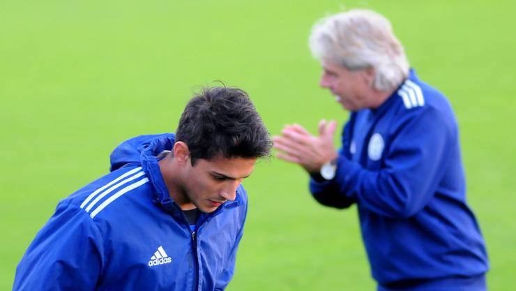 Positiv überrascht: Grenchen mit Dave Sanchez (vorn) und Trainer Max Rüetschli.
