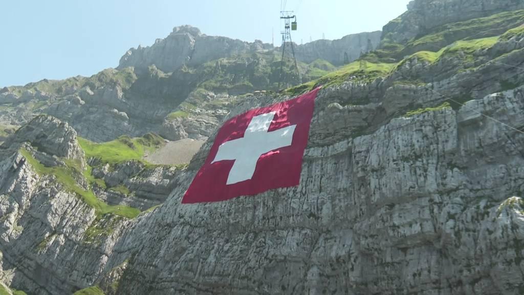 Schweizer Fahne am Säntis: Dieses Jahr hängt sie nicht