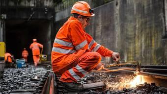 Eine zentrale SBB-Aufgabe: die Erneuerung der Gleise.