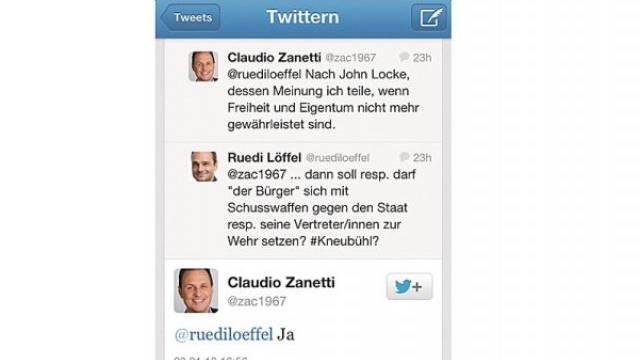 «Absolut befremdlich»: Claudio Zanettis Tweet.