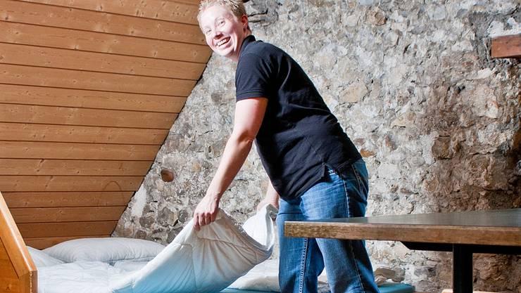 Saba Krezdorn leitet seit 2007 die Jugendherberge «Schlössli Altenburg» in Brugg. Sandra Ardizzone