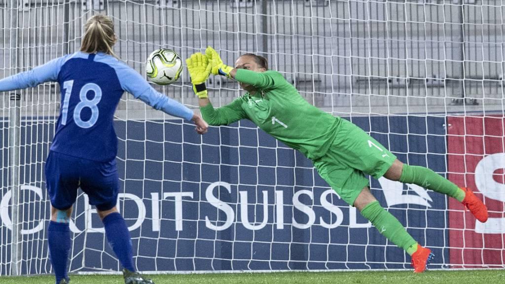 Wird dem Schweizer Nationalteam im entscheidenden EM-Qualifikationsspiel in Belgien fehlen: Goalie Gaëlle Thalmann