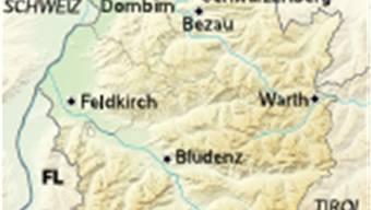 Kartenausschnitt Vorarlberg