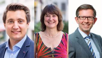 Stadtratskandidaten Lenzburg: Andreas Schmid, Beatrice Burgherr und Beat Hiller