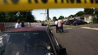Polizeisperre nach der Schiesserei auf Puerto Rico
