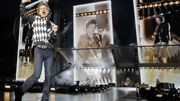 """Hat's noch immer drauf: Mick Jagger beim Auftakt zur Tournee """"No Filter"""" in Chicago."""