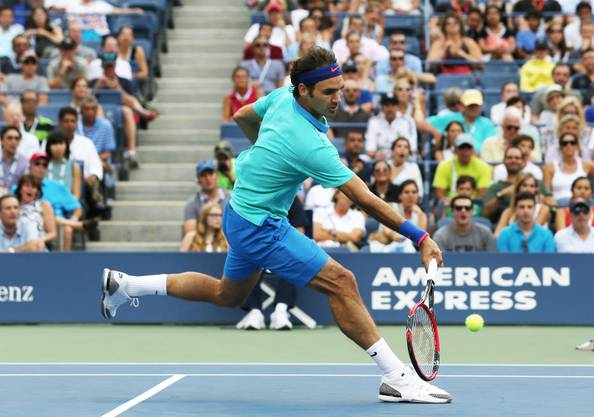 Roger Federer am US Open in New York, 6. September 2014