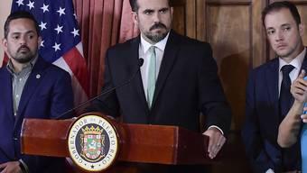 Nur noch bis am Freitagmittag im Amt: Puerto Ricos umstrittener Gouverneur Ricardo Rosselló. (Archivbild)