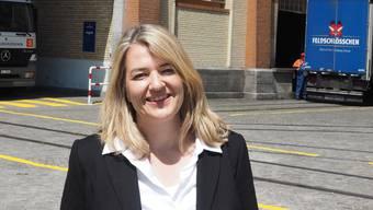 Gaby Gerber, Mitglieder der Geschäftsleitung von Feldschlösschen in Rheinfelden, kandidiert im Herbst 2019 für den Nationarat (FDP).