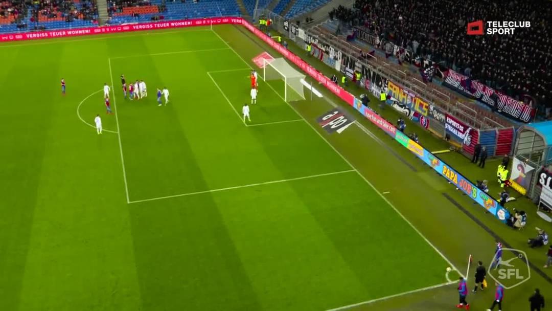 Super League, 2018/19, 32. Runde, FC Basel – FC Zürich, 49. Minute: Tor von Carlos Zambrano.