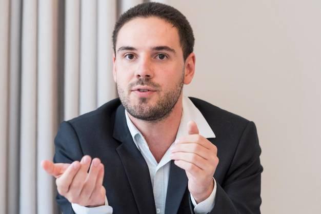 GSoA-Sekretär Lewin Lempert.