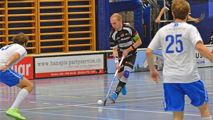 Für Manuel Mucha und Unihockey Mittelland gibt es gegen Thurgau keine Punkte.