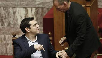 Hoffen auf baldige Hilfe: Tsipras (links) und Varoufakis