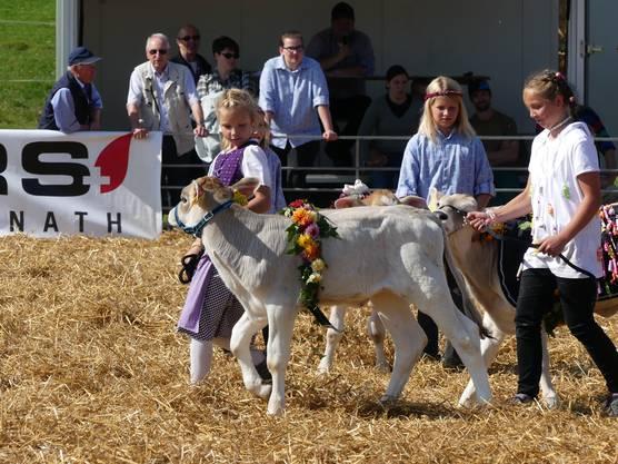Der Kälberwettbewerb der Kinder ist immer ein Publikumsmagnet.