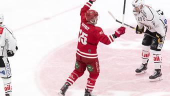 """Dustin Jeffrey erzielte für den Lausanne Hockey Club sowohl am Samstag in Langnau wie am Sonntag gegen Lugano das """"Game-Winning-Goal"""""""