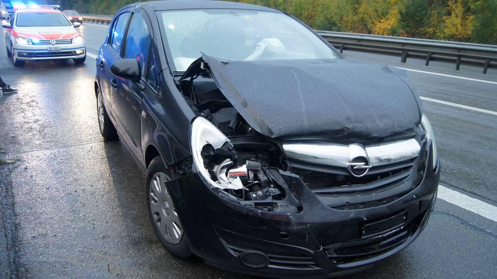 Zwei Unfälle auf gleichen A14-Gebiet