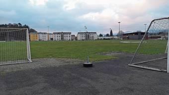 Die heutigen beiden Naturrasenplätze «Winkel» in Aarau Rohr sind sanierungsbedürftig.