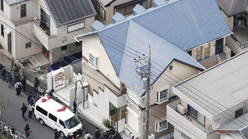 Die Polizei findet die Leichenteile in Kisten in einem Haus in Zama südwestlich von Tokio.