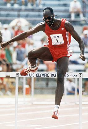 Moses an den US-Trials 1988 in Indianapolis.