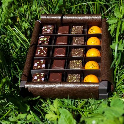 Da läuft einem das Wasser im Mund zusammen: Die neue Frühlingskollektion der Chocolatiers Willi Schmutz und Martin Schwarz.
