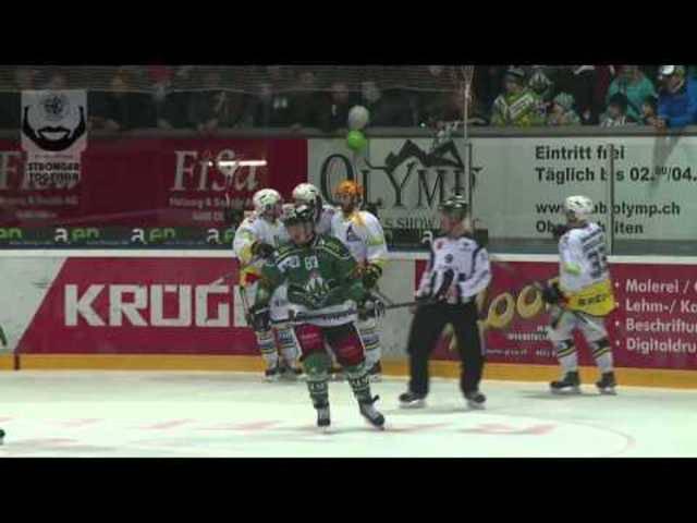 Alle Highlights vom 1. Halbfinalspiel EHC Olten - HC Ajoie 4:3 n.P.