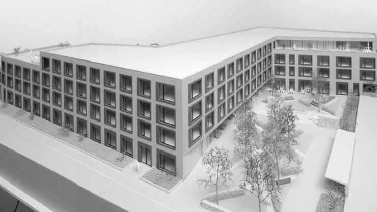 Der Neubau als Visualisierung.
