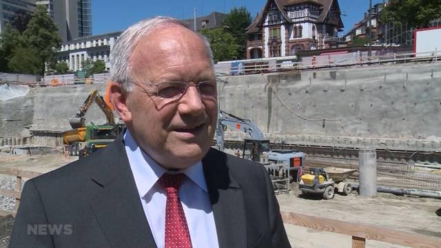 Inselspital: Bundesrat legt Forschungszentrum-Grundstein