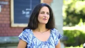 Nancy Holten wirbt für Anlagefonds der Post