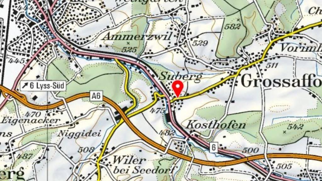 Die Ortschaft Suberg gehört zur Gemeinde Grossaffoltern und liegt im Berner Seeland bei Lyss.