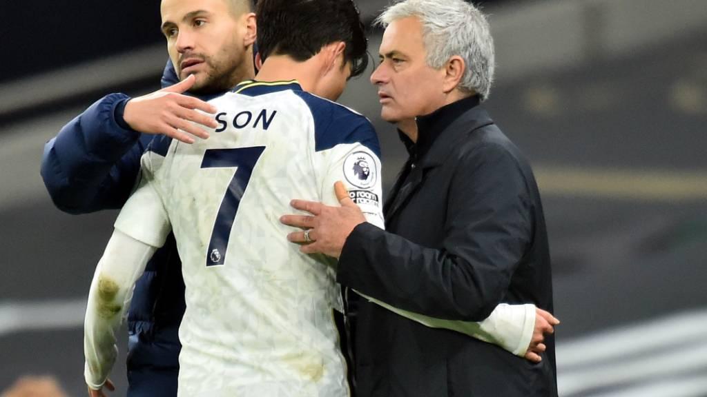 Vereint im Erfolg: José Mourinho (rechts) und sein koreanischer Top-Stürmer Son Heung-min