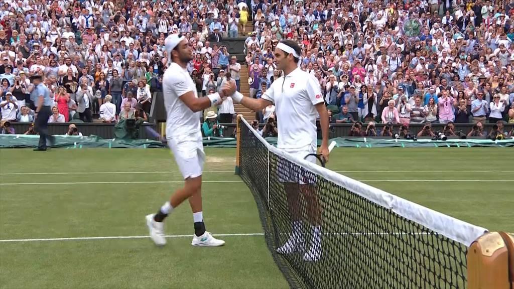 Federer fegt Berrettini vom Platz - dieser bedankt sich für die Lektion