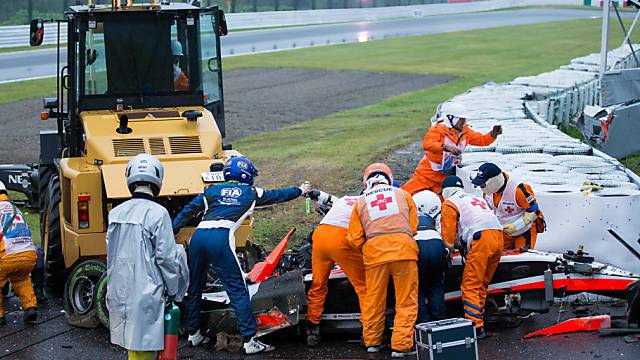 Bianchis schwerer Unfall überschattet den GP Japan