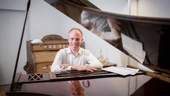 Der Pianist, Komponist und in St. Gallen als Organist tätige Bernhard Ruchti. Bild: Urs Bucher