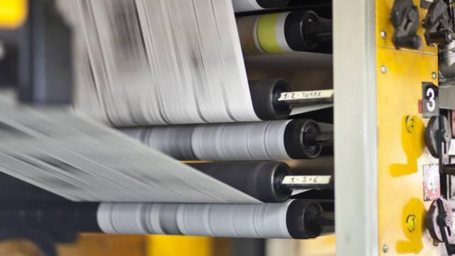 Die Druckerei der Zeitung La Regione in Bellinzona (Archiv)