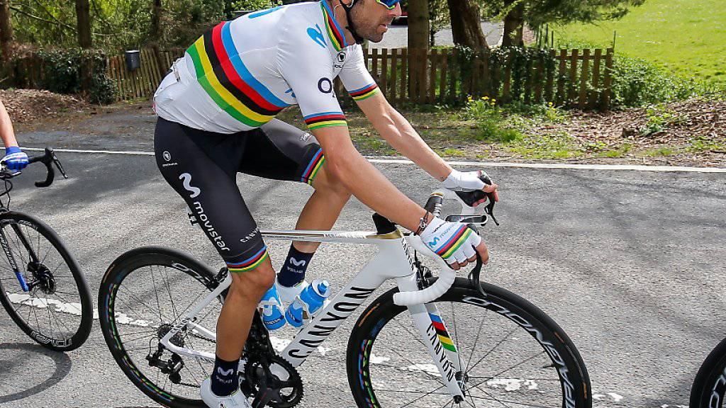 Weltmeister Alejandro Valverde muss auf die Teilnahme am Giro verzichten