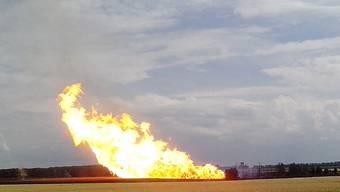 Weshalb die Pipeline in Brand geriet, ist unklar.