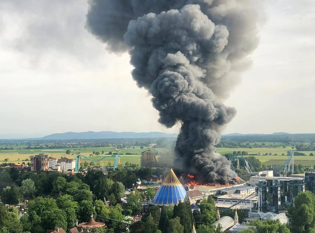 Grossbrand im Europapark (© Keystone)