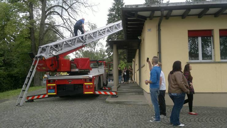 Feuerwehreinsatz an der kantonalen Berufsfachschule Gesundheit und Soziales
