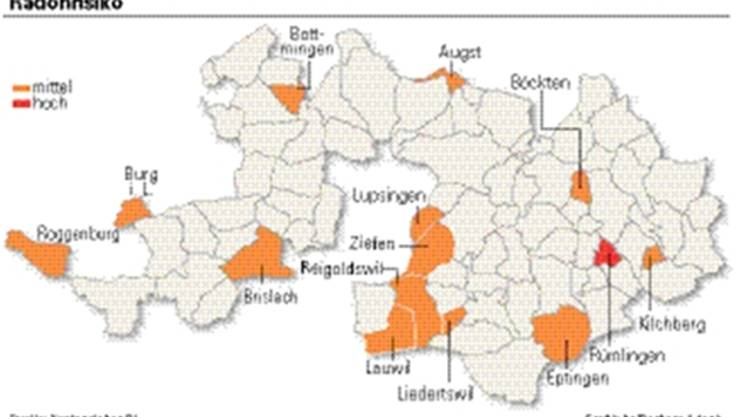 Die Grafik zeigt die betroffenen Gemeinden.