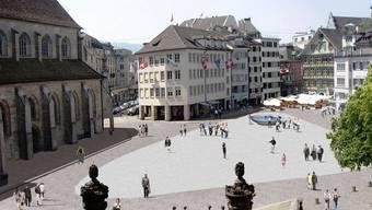 So soll der Münsterhof künftig aussehen – für den Brunnen ist ein anderes Modell vorgesehen.zvg Stadt Zürich