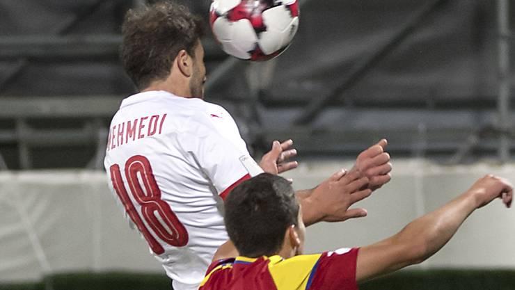 Admir Mehmedi (links) erzielte in der 77. Minute das 2:0 für die Schweiz