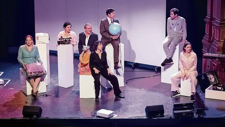 Die Satire-Experten des diesjährigen «Bundesordners» im Casinotheater Winterthur .