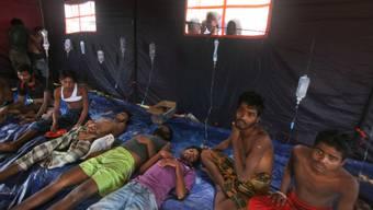 In der indonesischen Provinz Aceh betreute Flüchtlinge