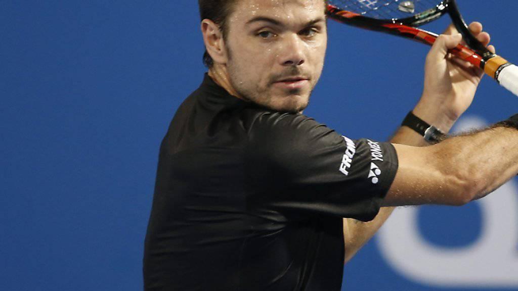 Stan Wawrinka ist in Abu Dhabi mit einer Niederlage in das neue Jahr gestartet